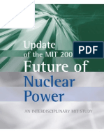 Update of the MIT 2003 Future of Nuclear Power Study