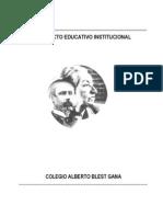 Proyecto Educativo Colegio Alberto Blest Gana
