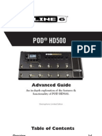 Line 6 POD® HD500 Advanced Guide, En