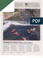 Um milhar em canoas contra a mini-hídrica