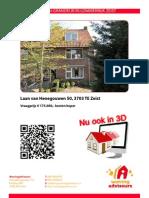 3D Brochure Laan Van Henegouwen 50 Te Zeist