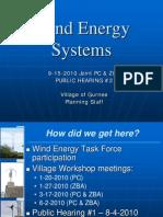 2010 Gurnee, IL Wind Energy System Presentation (Public Hearing #2)