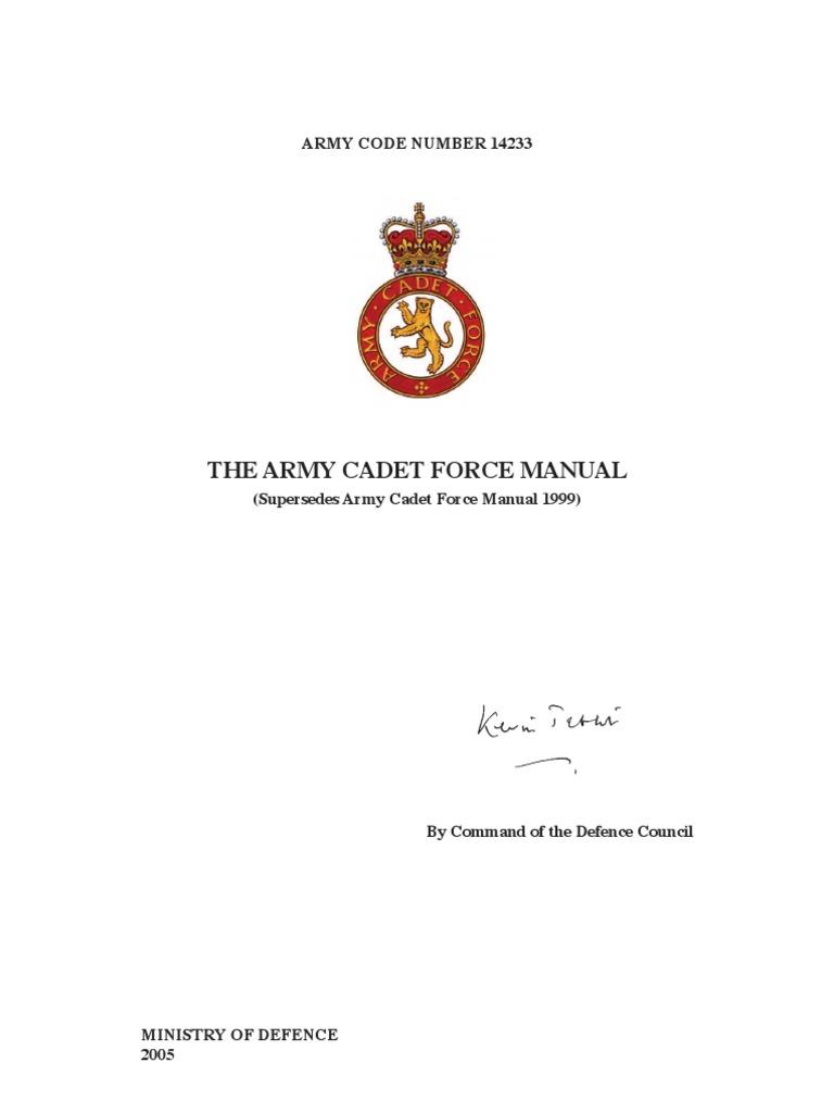 c1406a30 Uk Army Cadet Force Manual 2005   Cadet   Military Rank