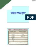 Tensões de distrib - NORMAS 102 - 119 e 118