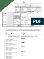 Plano Semanal de Actividades de 26 a 29 de Abril de 2011