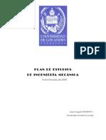 Plan de Estudios Resumen