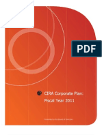Canadian Internet Registration Authority 2011 Corporate Plan