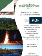 Grand Hotel Balvanyos - 1st May
