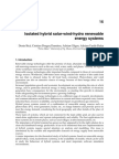 Isolated Hybrid Solar-wind-hydro Renewable Energy Systems