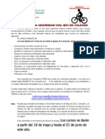 Cursos de circulación ciclista para trabajadores del Hospital Virgen de las Nieves de Granada