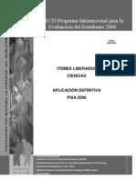 Itemes Liberados PISA 2006 Ciencias