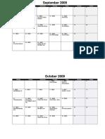 Staff Calendar (Month)