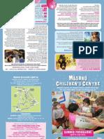 Masbro Centre 2011 Summer Programme