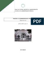 Politica Si Administratie - Suport de Curs