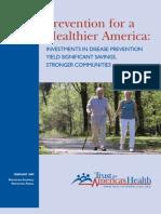 2008 Urban Study on Prevention Savings