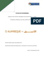 FICHA DE PATRIMÓNIO - o Alambique