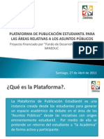 Presentación Charla Informativa PPE 27.04.11