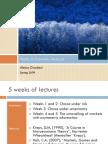 Topics in Economic Analysis