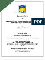 Dissertation Report.