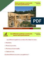 Différents systèmes constructifs bois