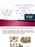 Características motrices del niño de 6 a 12 años de edad