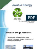 Renewable Sources of Energy