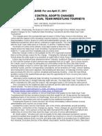 IHSAA Board of Control Release April 27, 2011