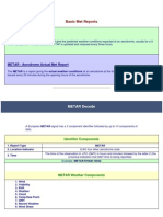 Basic Metar Reports