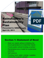Rain Shadow CCHS Sustainability Plan PPT