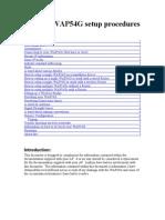 Linksys WAP54G Setup Procedures