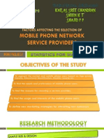 A study on Factors affecting the selection of Mobile Phone Network Service Providers