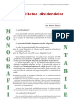Contabilitatea dividendelor