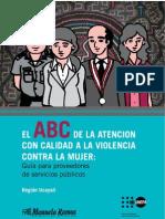 El ABC de la atención con calidad a la violencia contra la mujer