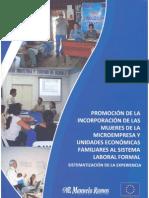 Promoción de la incorporación de las mujeres de la microempresa y unidades económicas familiares al sistema laboral formal