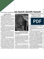 Alewife Restoration Article St. Courier Courier, April 2011