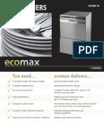 Ecomax Front Loading Dishwashers
