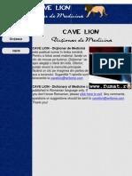 Dictionar Medicina CAVE LION