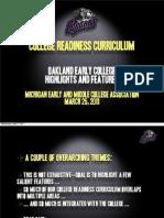 College Readiness Curriculum