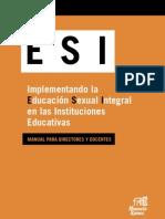 Implementando la Educación Sexual Integral en las Instituciones Educativas