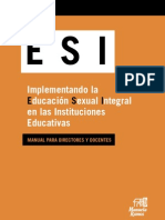 Implementando la Educación Sexual Integral en las Instituciones Educativas
