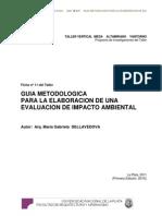 Ficha Nº 11 - GUIA METODOLOGICA PARA LA ELABORACION DE UNA EIA