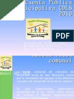 Cuenta Pública Participativa CDLS 2010