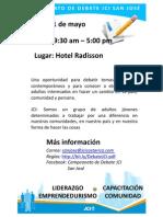Campeonato de Debate JCI San Jo sé - 21 de Mayo (Invitacion)