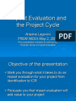Impact Eval and Project Cycle