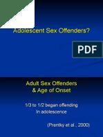 Adolescent Sex Offenders