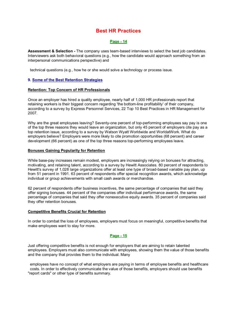 Best HR Practices | Employee Benefits (72 views)