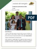 Informe misionero Neiva - Diciembre de 2010