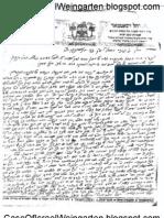 Weingarten Letter