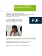 Revista Caminos Abiertos 2007 1