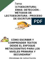 DIAPOSITIVAS DE LECTOESCRITURA CONCEPTOS Y MÉTODOS